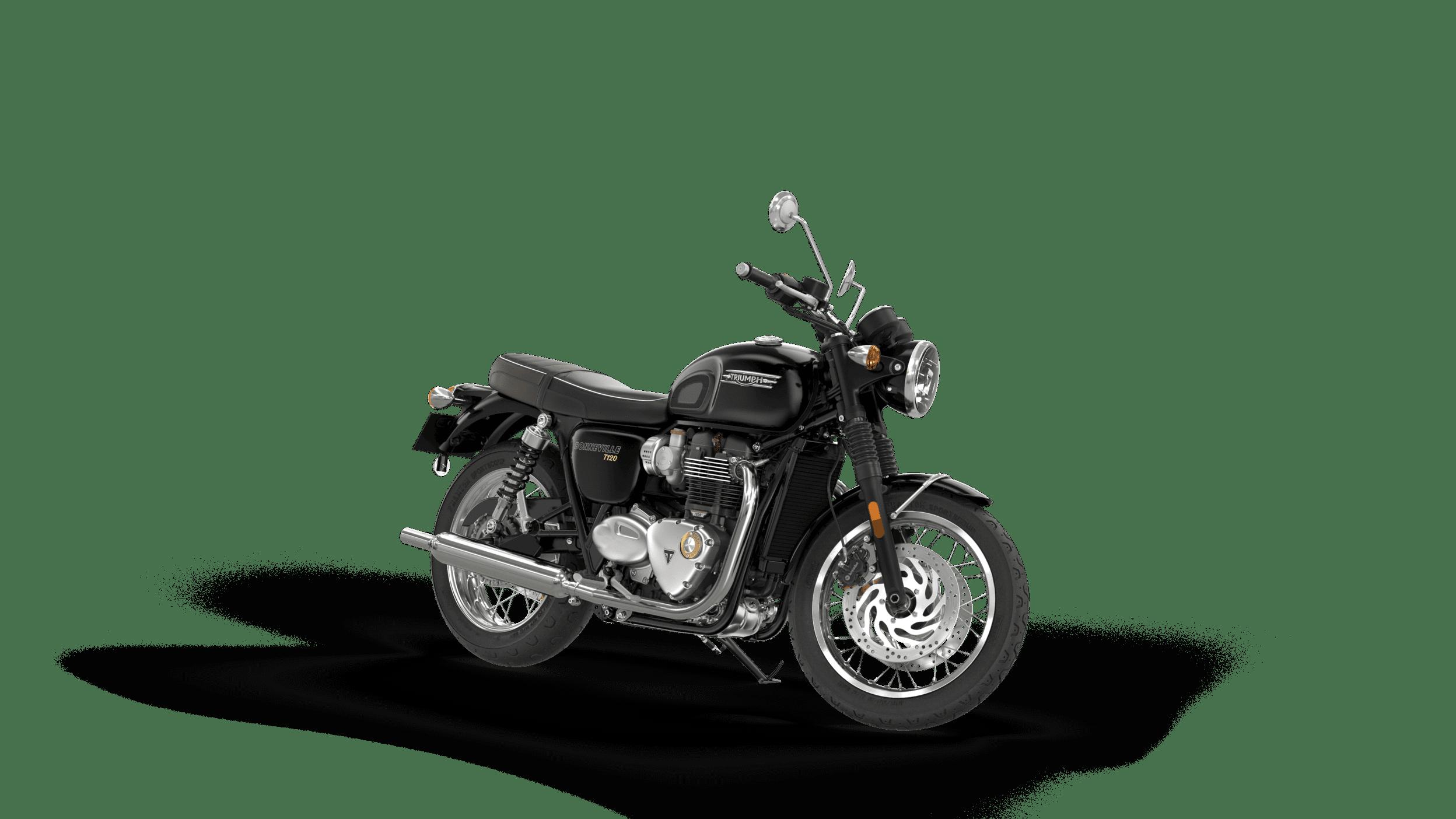 triumph bonneville t120 negru ANGLE RHS 3